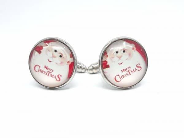 Dodatki Świąteczne Spinki do mankietów Święty Mikołaj