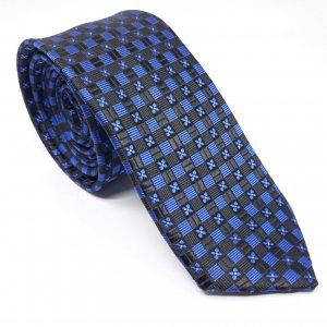 Dodatki Elegancki Krawat Czarno Szafirowy