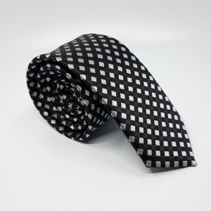 Dodatki Elegancki Krawat Szachownica