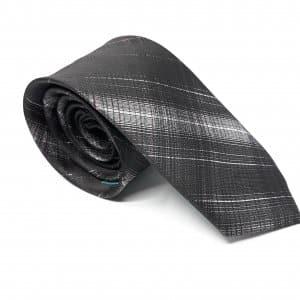 Dodatki Elegancki Krawat Czarny Cieniowany