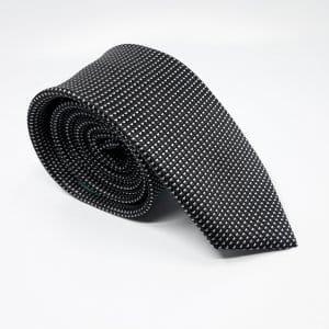 [category] Elegancki Krawat Czarny Białe Trójkąciki