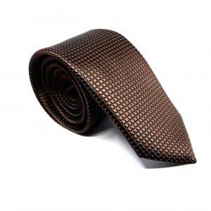 Dodatki Elegancki Krawat Brązowy
