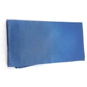 Poszetka Gładka Niebieska