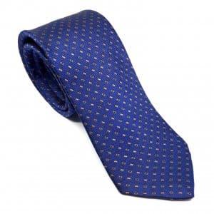Dodatki Elegancki Krawat Piotr Granatowy w Brązowy Wzór
