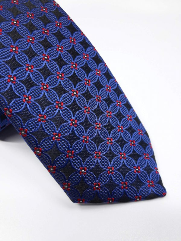 Dodatki Elegancki Krawat Piotr Granatowy Czarny