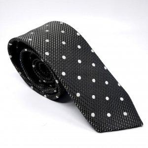Dodatki Elegancki Krawat Białe Kropki