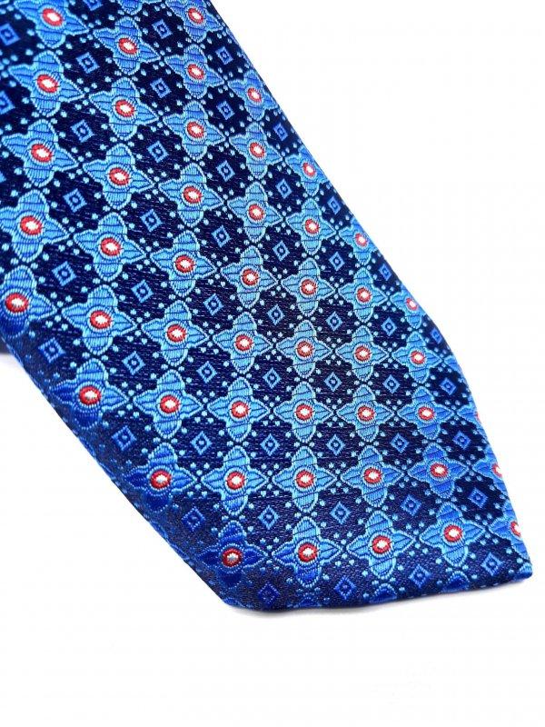 Dodatki Elegancki Krawat Piotr Niebieski Kwiatki