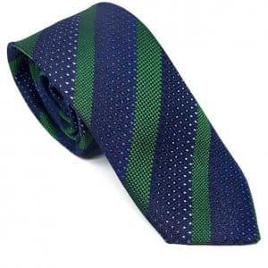 Dodatki Elegancki Krawat Zielono Granatowy