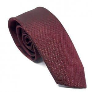 Dodatki Elegancki Krawat Bordowy Wzorek