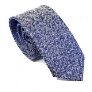 Dodatki Elegancki Krawat Granatowy Wzór