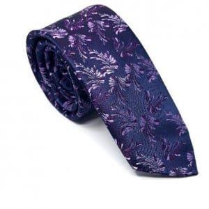 Dodatki Elegancki Krawat Fioletowy