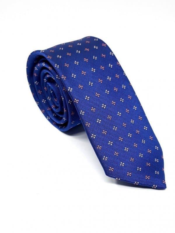 Dodatki Elegancki Krawat Piotr  Granat Kwiatuszki