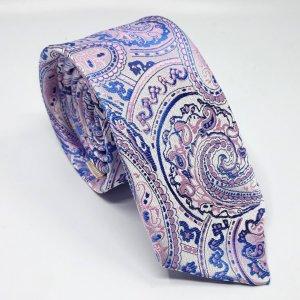 Dodatki Elegancki Krawat Różowy Wzór