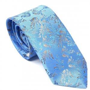 Dodatki Elegancki Krawat Piotr Niebiesko Złoty