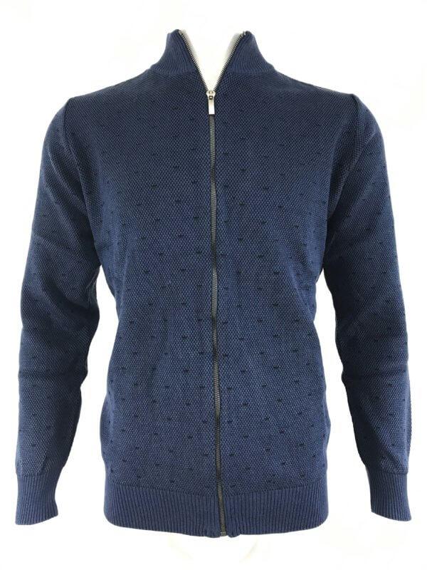 Sweter Na Zamek Niebieski Kudi