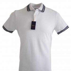 Koszulki Polo Koszulka Polo Kudi Biała Granat