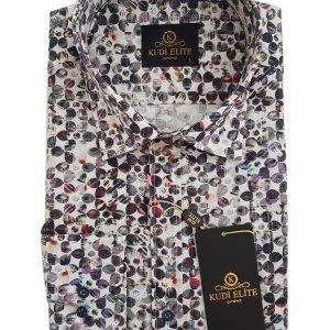 Koszule długi rękaw Koszula Kudi Kolorowe Kółka