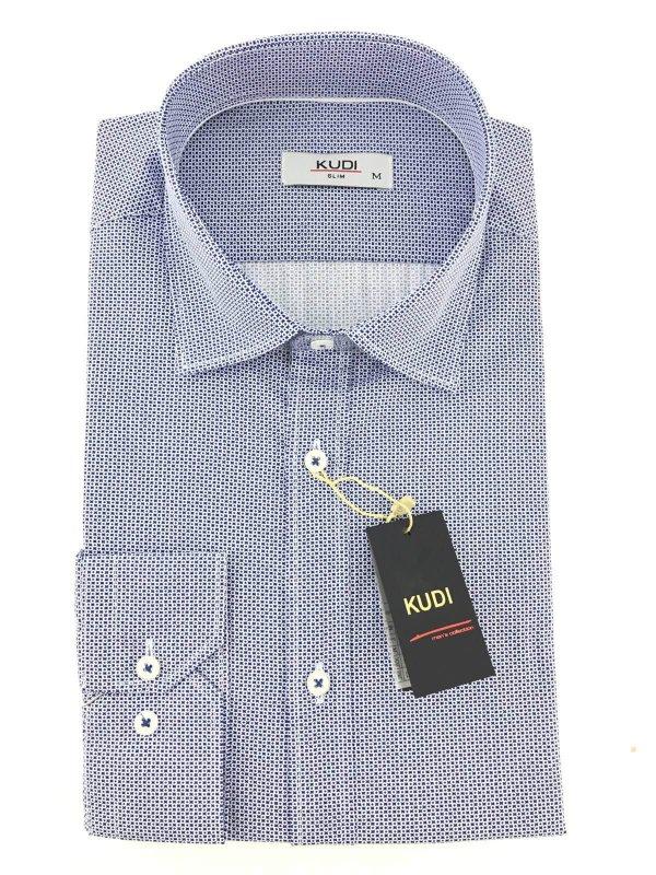 Koszule długi rękaw Koszula Niebieska Kółka