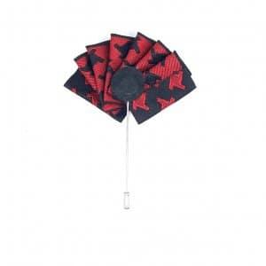 Dodatki Pin Przypinka Wachlarz Granat Czarny Czerwony