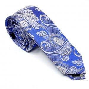 Dodatki Elegancki Krawat Alties Niebiesko Srebrny