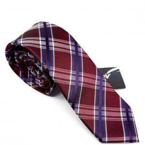 Dodatki Elegancki Krawat Bordowy