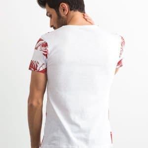 T-shirty T-shirt Bawełniany Biały Bordowe Liście