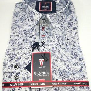 Koszula Wild Tiger Granatowe Kwiatki
