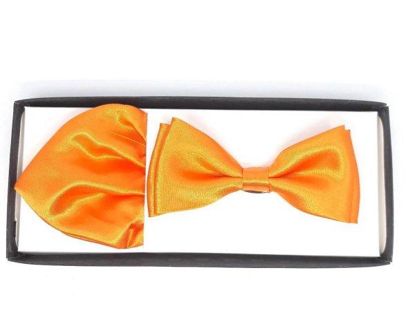 Dodatki Mucha z Poszetką Neonowy Pomarańcz