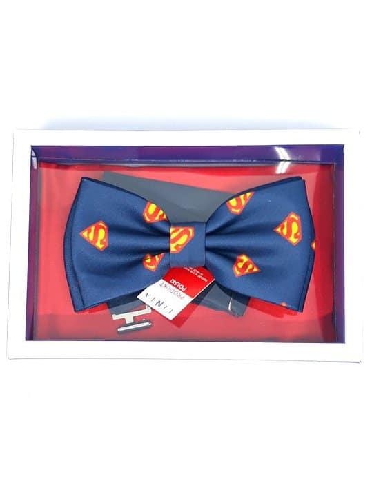 męskie Mucha Męska Superman