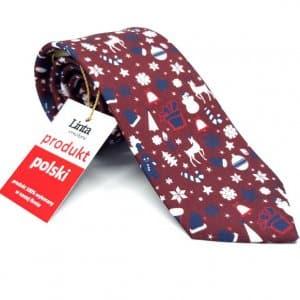 Krawaty Krawat Świąteczny Wzór