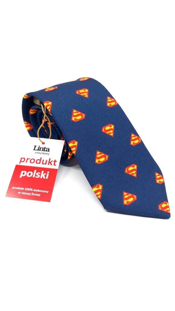 Krawaty Krawat Męski Superman