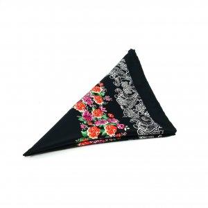 Poszetki Poszetka Czarna Kwiaty