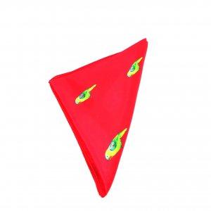 Poszetki Poszetka Czerwień Papugi