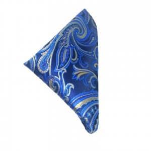 Poszetki Poszetka Niebieska Paisley