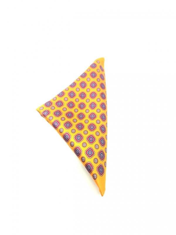Poszetki Poszetka żółta wzór