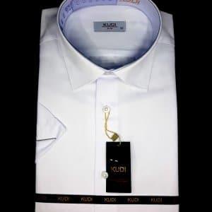 KOSZULE KRÓTKI RĘKAW Koszula Kudi Biała Slim
