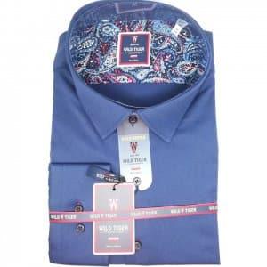 Koszule długi rękaw Koszula Męska Granat