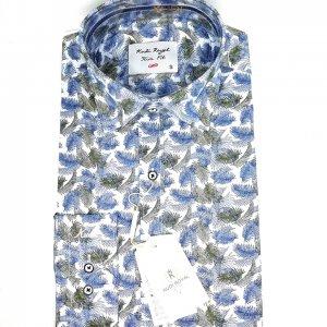 Koszule długi rękaw Koszula Kudi Royal Liście