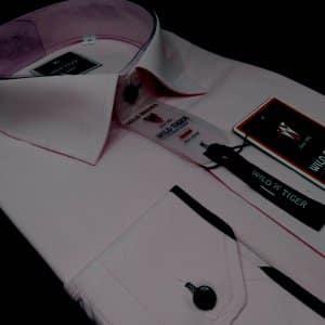 Koszule długi rękaw Koszula Męska Mocny Róż