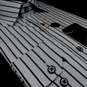 Koszule długi rękaw Koszula Kudi Elite Paski