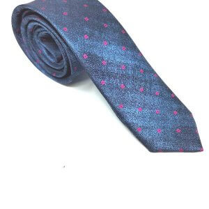 Krawaty Elegancki Krawat Niebieski Róż