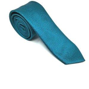 Krawaty Elegancki Krawat Turkusowy Wzorek