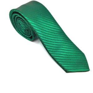 Krawaty Elegancki Krawat Ciemno Zielony Paski