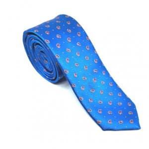 Krawaty Elegancki Krawat Niebieski Łezki