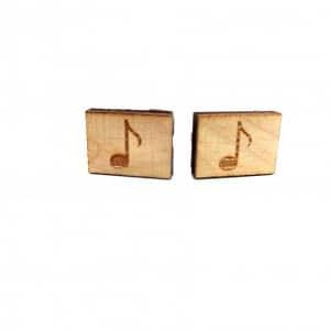 Spinki Spinki do mankietów Drewniane Nutki