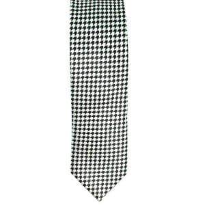 Krawaty Elegancki Krawat Szachownica Biało Czarny