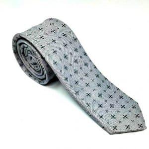 Krawaty Elegancki Krawat Szary Ciemne Krzyżyki