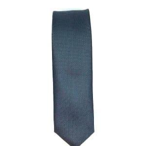 Krawaty Elegancki Krawat Grafitowy Gładki