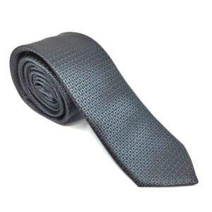 Krawaty Elegancki Krawat Grafitowy