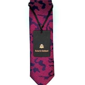 Krawaty Elegancki Krawat Różowy Granatowy Wzór